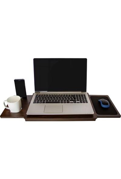 Asudehome Dizüstü Laptop Standı / Düzenleyici Saten Ceviz (DLS003)