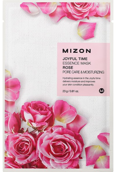 Mizon Joyful Time Essence Mask Rose - Gül Maskesi