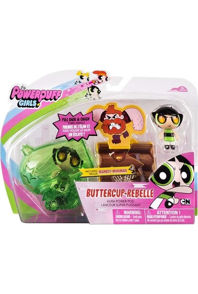 Samatlı Powerpuff Girls Aura Araç Seti - Kız Çocuk Oyuncak Figürler 3 Figür Birlikte