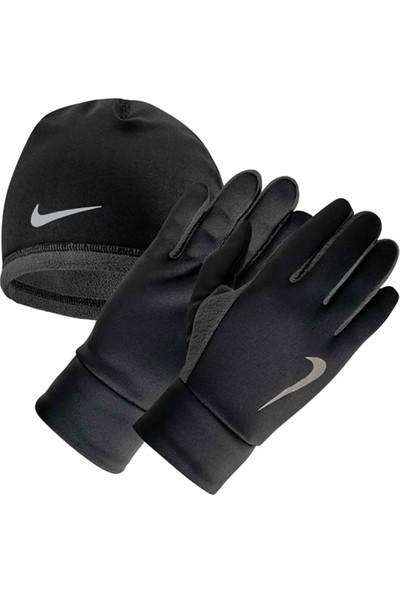 Nike NRC34-045 Mens Termal Koşu Eldiveni Bere Seti