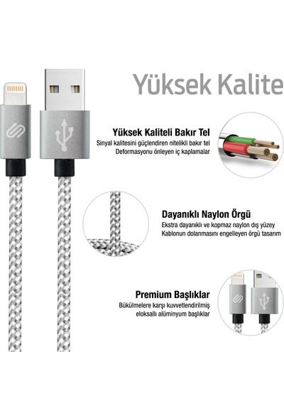 QWERTS Apple iPhone USB Hızlı Şarj ve Data Kablosu 3'lü Paket, 1, 2, 3 Metre Örgülü Lightning Kablo