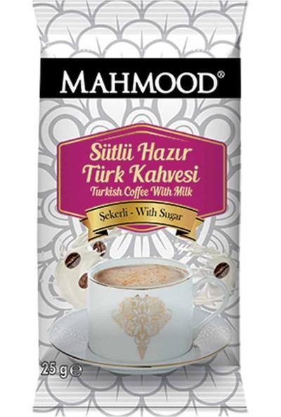 Mahmood Coffee Hazır Türk Kahvesi Sütlü Şekerli 25 gr 12'li