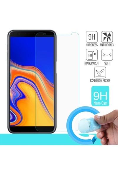 Diginox Samsung Galaxy J4 Plus Kılıf Ultra İnce Şeffaf Silikon + Nano Cam Ekran Koruyucu