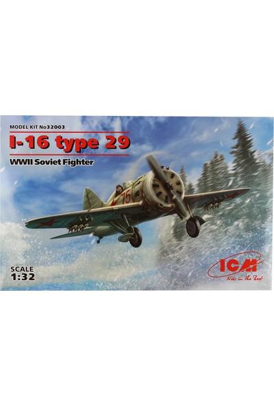 ICM 1/32 I-16 type 29 Savaş Uçağı Maketi
