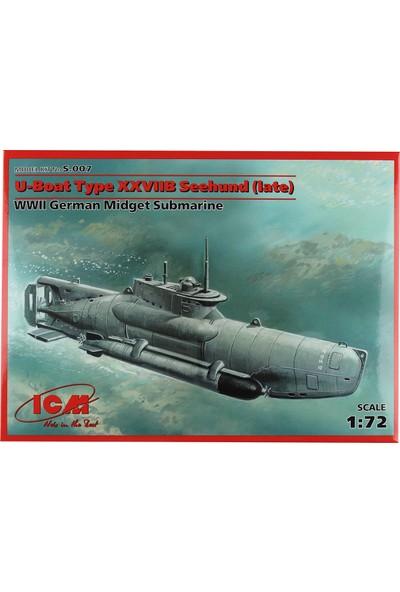 ICM 1/72 U-Boat Type XXVIIB Seehund Denizaltı Maketi