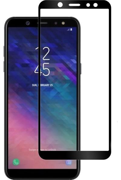 Case 4U Samsung Galaxy A6 2018 Tam Kaplayan Ekran Koruyucu - Nano Fiber Siyah