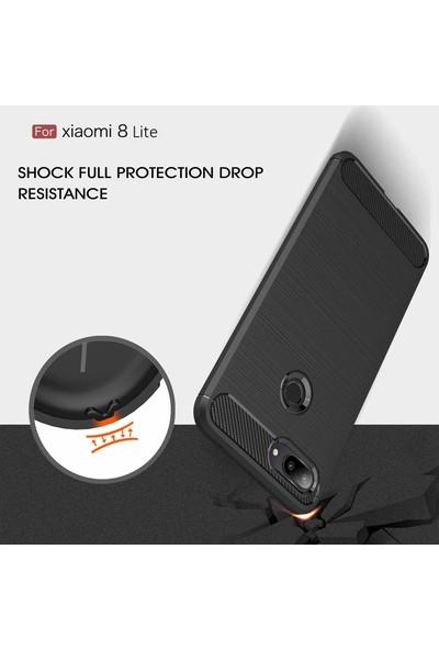 Case 4U Xiaomi Mi 8 Lite Kılıf Darbeye Dayanıklı Room Arka Kapak Lacivert