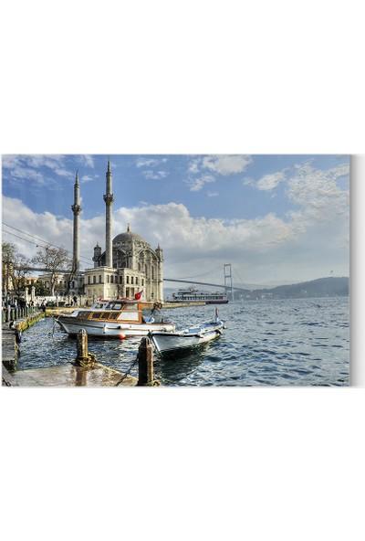 Desenlio Ortaköy Camii Manzaralı Kanvas Tablo