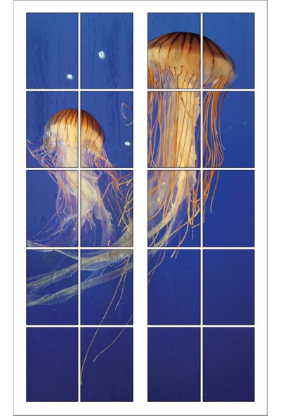 Renkselart Pencere Deniz Anası Akvaryum Deniz Dibi Duvar Sticker