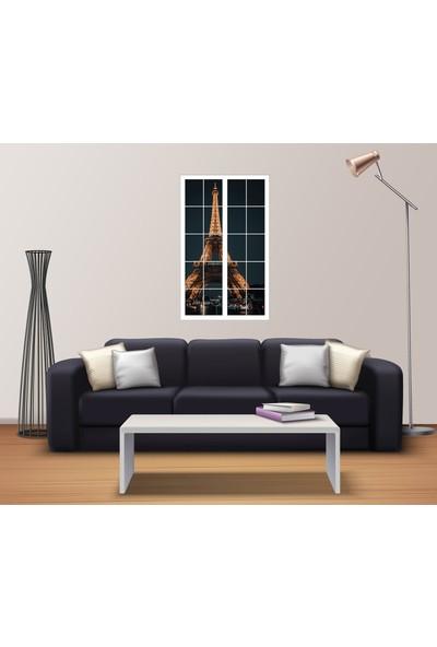 Renkselart Pencere Eyfel Kulesi Duvar Sticker