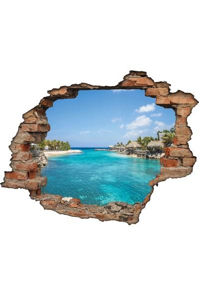 Renkselart Kırık Tuğla Tatil Köyü Deniz Duvar Sticker