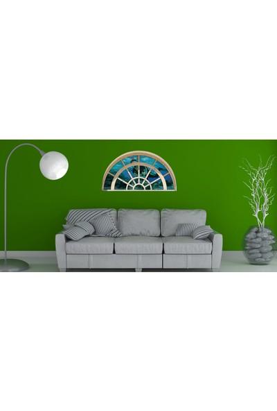 Renkselart Pencere Dalgıç Deniz Duvar Sticker