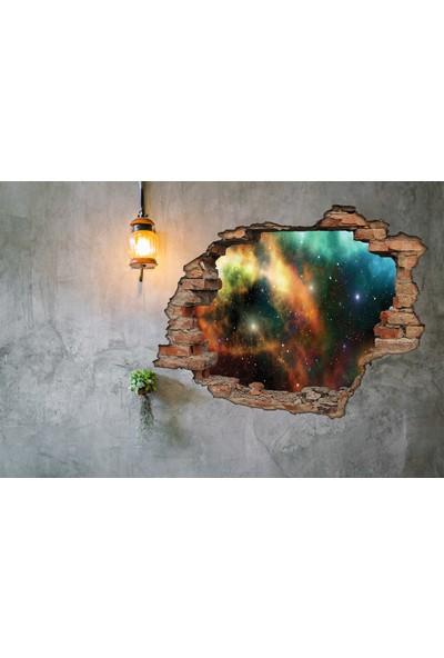 Renkselart Kırık Tuğla Uzay Duvar Sticker