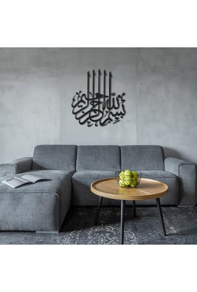 Wall Art İstanbul Besmele Yazılı Metal Tablo -WAM058