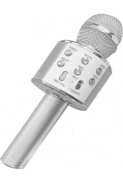 Wster Ws 858 Bluetooth Kablosuz Bağlantılı Karaoke Mikrofon Hoparlör Sd Kart Usb Giriş