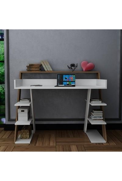 Bmdekor Çalışma Masası Bilgisayar Masası Eylül Beyaz Ceviz