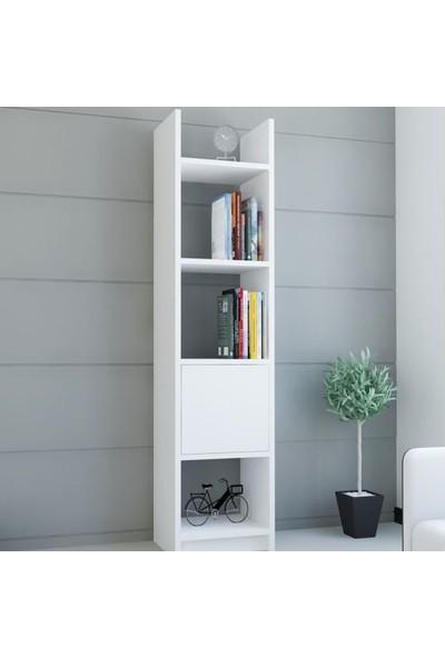 Bmdekor Kitaplık Elips 103 Tekli Beyaz