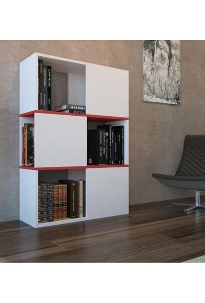 Bmdekor Kitaplık Beymen Tasarım Beyaz
