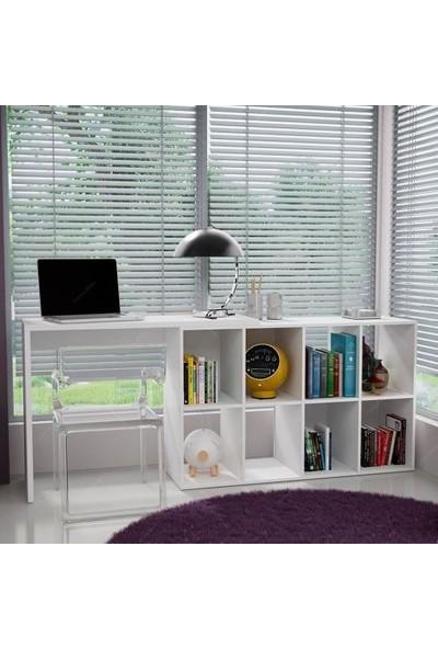 Bmdekor Çalışma Masası Bilgisayar Masası Maksi Beyaz