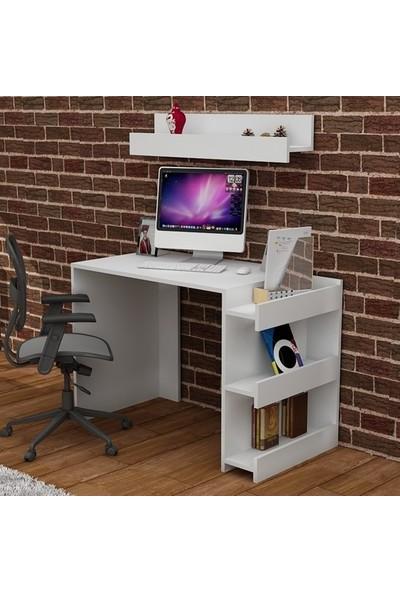 Bmdekor Çalışma Masası Bilgisayar Masası Buğra Beyaz