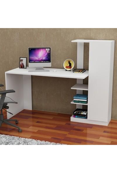 Bmdekor Çalışma Masası Bilgisayar Masası Yiğit Beyaz