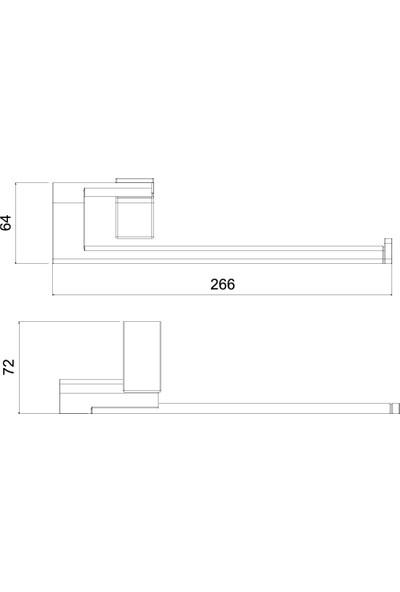 Tema Premium Kağıt Havluluk Kapaksız Krom 71006