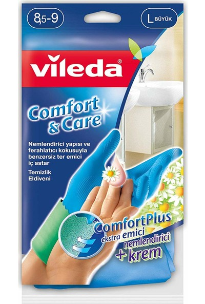 Vileda Comfort&Care Temizlik Eldiven (Büyük)