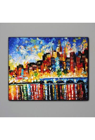 Dekomuz Şehir ve Deniz Kanvas Tablo 140 x 100