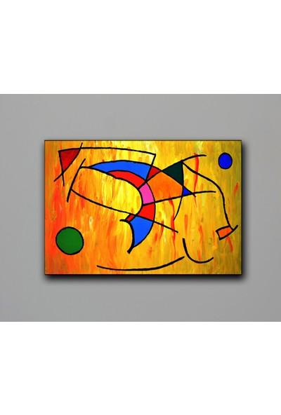 Dekomuz Soyut Kanvas Tablo 140 x 100