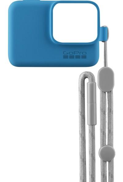 GoPro Bileklik + Boyunluk (Mavi) Sleeve + Lanyard