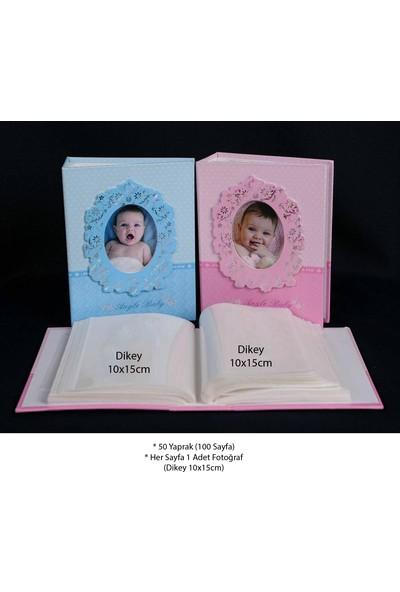 """Acr 10 x 15cm 100'lük Bebek Fotoğraf Albümü """"Mavi"""""""