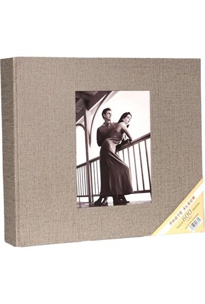 """Acr 600'lük 10 x 15cm Koton Desenli Fotoğraf Albümü """"Koton Krem"""""""