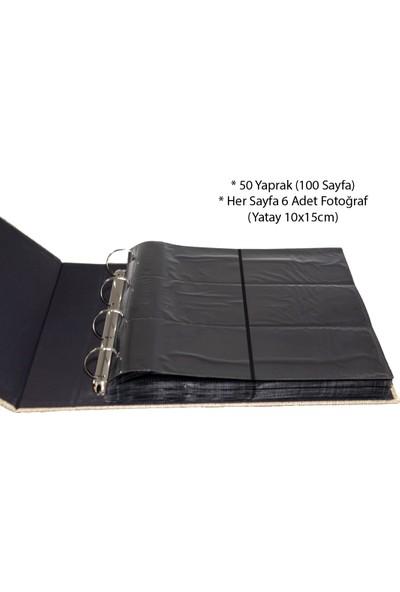 "Acr 600'lük 10 x 15cm Koton Desenli Fotoğraf Albümü ""Koton Vizon"""