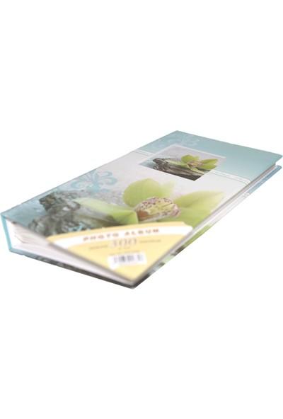 """Acr 300'lük 10 x 15 Desenli Fotoğraf Albümü """"Yeşil Çiçek"""""""