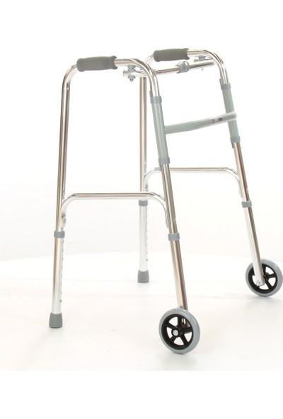 Poylin İthal Alüminyum Hareketli Tekerlekli Walker Hasta Yaşlı Yürüteci