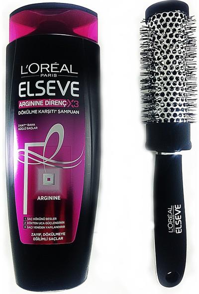 Elseve Argine Direnç 3x Dökülme Karşıtı Şampuan 550 ml+Fırça Tarak