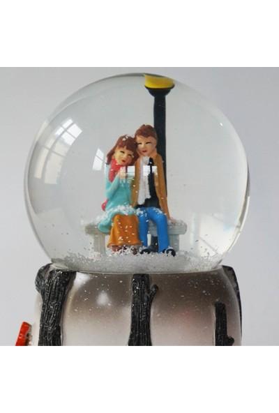 Mory Concept Kış Masalı Kar Küresi Kurmalı & Müzikli