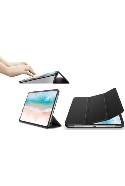 CresCent iPad Pro 12.9 inç 2018 Stiff Back Smart Case Tablet Kılıfı (A1876/A2014/A1895)