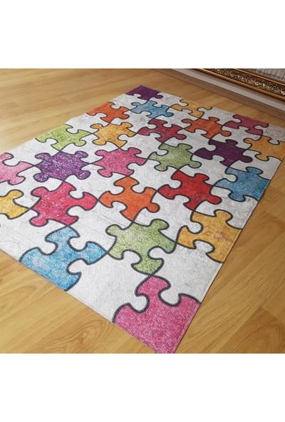 Halıforum Renkli Halı Modelleri Yeni Model Halı Puzzle-İ-B465