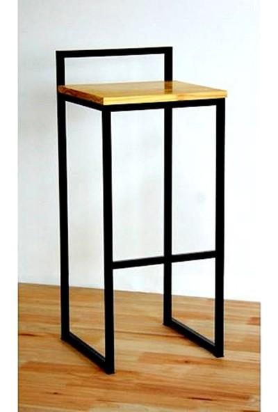 Ratolye Metal Ahşap Bar Sandalyesi - Bts4