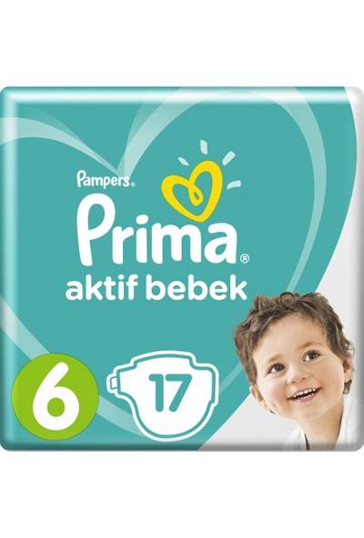 Prima Bebek Bezi Aktif Bebek 6 Beden Ekstra Large İkiz Paket 17 Adet