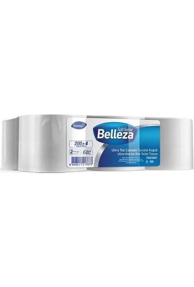 Belleza Endüstriyel Tuvalet Kağıdı Ultra Tek Çekmeli 200m 6lı