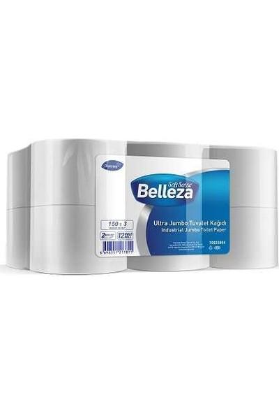 Belleza Endüstriyel Tuvalet Kağıdı Ultra Mini Jumbo 150m 12li