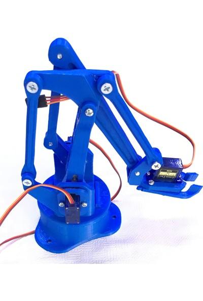 Arduino Robot Kol Kiti 3D Baskı Birleşmiş Halde Robot Kol