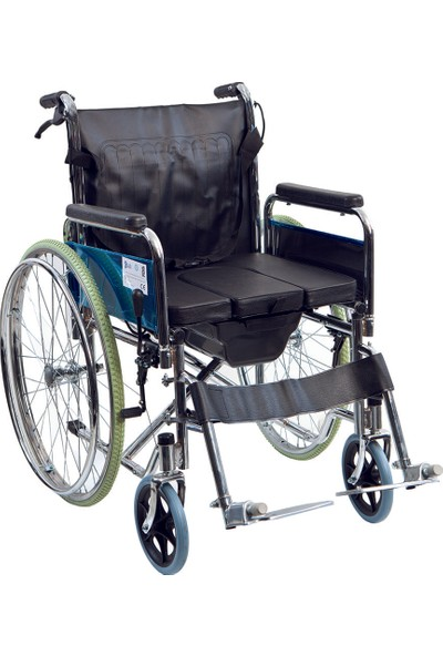 Golfi̇ G-120 Klozetli Manuel Tekerlekli Sandalye / Commode Manual Wheelchair