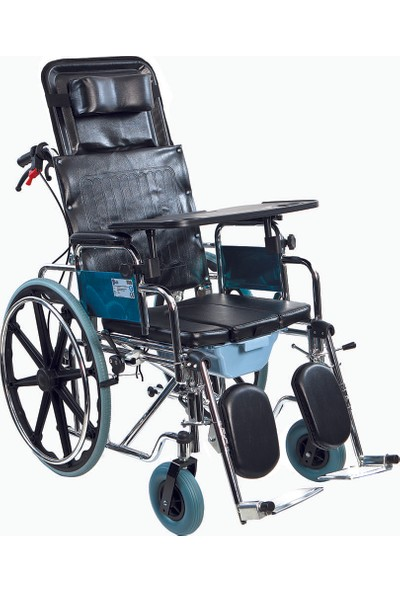 Golfi̇ G-124 Multi Fonksiyonel Klozetli Manuel Tekerlekli Sandalye / Multi Functional Manual Commode Wheelchair