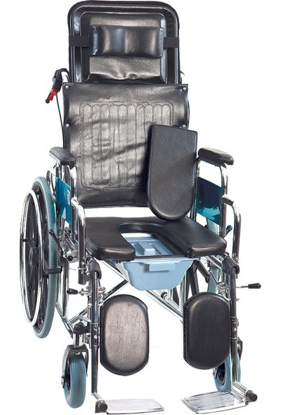 Golfi̇ G-124 Multi Fonksiyonel Klozetli Manuel Tekerlekli Sandalye / Multi Functional Manual Commode Wheelchair