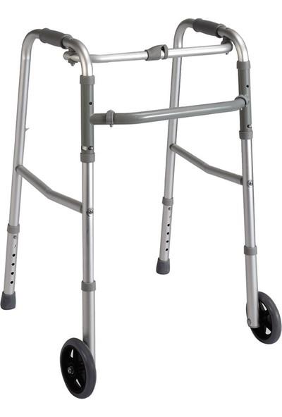 Loco PR-443 Alüminyum Çocuk Tekerlekli Hareketli Yürüteç / Aluminum Pediatric Walker W-Wheels