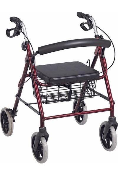 Loco PR-881 4 Tekerlekli OturaklıYürüteç / Rollator