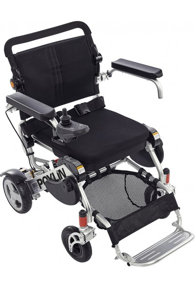 Poyli̇n P-207 Ultra Hafif Katlanabilir Akülü Tekerlekli Sandalye / Ultra Light Foldable Power Wheelchair